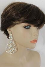 Dressy Women Silver Metal Bling Beads Water Drop Fancy Fashion Hook Earrings Set