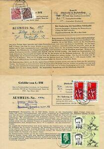 DDR 2 x Briefmarken Gebühren Ausweis 1959 und 1963