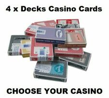 More details for 4 x decks of las vegas casino cards 40+ to choose from all popular casinos