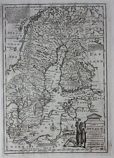 Antique atlas map SWEDEN, FINLAND, BALTIC SEA, Emanuel Bowen, published 1747