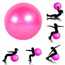 "Yoga Ball 25"" 65cm Exercise Gymnastic Strength Fitness Pilates Balance Pink"