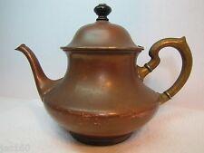 Antique ToC Brass & Copper Tea Pot Landers Frary Clark Connecticut Universal