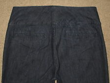 New York & Company Battery Park Size 4 Tall Flare Stretch Denim Womens Trouser