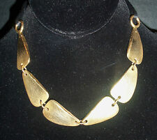 KENNETH LANE KJL  LARGE GOLD NUGGETS ON BLACK SILK CHAIN ESTATE JEW VINTAGE