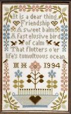 10% Off Moira Blackburn Samplers Counted X-stitch chart - Friendship Sampler