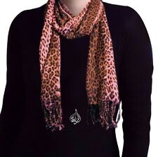 LEOPARD LONG NECK SCARF HIJAB 68 X 24"