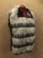 Amazing! Adrienne Landau NEW NWT Vogue Shaggy Faux Fur & Leather Vest Womens 2X