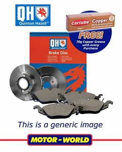 Fits Ford Fiesta - 2008 Onwards Front Discs & Pads Set + Copper Grease