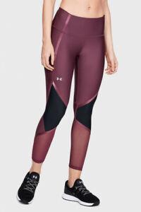 Under Armour Women's HeatGear Armour Shine Ankle Cropped Leggings 1348025 Sz XL