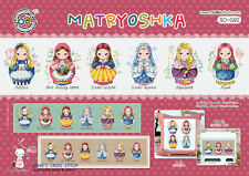 Matryoshka Russian Traditional Doll - Cross stitch pattern leaflet.SO-G92