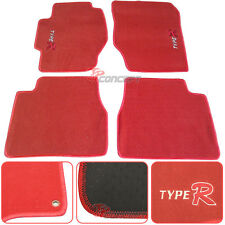 Promotion!!! Fit 98-02 Honda Accord Red Nylon Floor Mats Carpets Type R