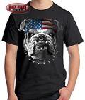 AMERICAN BULLDOG T-SHIRT M-5XL ~ Patriotic Tee ~ American Flag Dogs of War