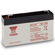 Yuasa NP1.2-6 Lead Acid Rechargeable Battery 6V, 1.2Ah