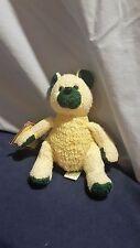 """Scrubby Buddies Yule Teddy Bear Green Bath & Body Works 8"""" 97 Plush Toy NWT (P3)"""