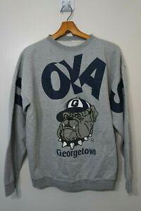 Vintage Georgetown Hoyas Sweatshirt Crewneck Size L 90s NCAA Big Spell Out