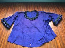 Anciens décors perlés noirs à récupérer sur un chemisier  époque 19 ème