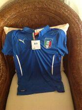 Puma Italia Short Sleeves Blue  Soccer/futbol Jersey/shirt Size L Youth
