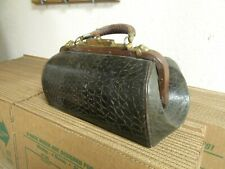 13x7 antique medical bag interior pockets BEAUTIFUL doctor collectible