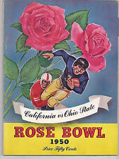 1950 Ohio State California Rose Bowl original NCAA football program Les Richter