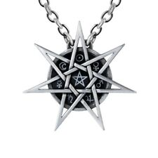 ALCHEMY ELVEN STAR PENDANT Wiccan Faerie Tradition Septagram + FREE GIFT BOX