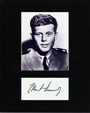 JOHN F. KENNEDY   CUSTOM 8 by 10 MATTED REPRINT PHOTO & REPRINT  AUTOGRAPH