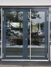 Aluminum Double door with glass + stainless steel handle