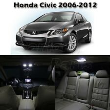 6x White Interior Light LED Bulb Package for Honda Civic 2006-2012 Sedan & Coupe