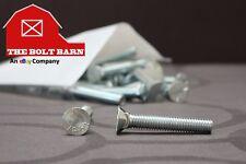 (50) 3/8-16x2 Grade 5 #3 Flat Head Plow Bolts Zinc Plated