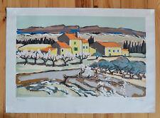 """Litho cubiste """"Montagne en Provence"""" de Jean-Claude QUILICI (1941.)76/175"""