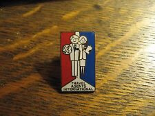 Travel Agents International Pin - Vintage Retro Vacation Planners Lapel Badge