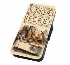 Bonkers Quotes Alice in Wonderland Flip Phone Case Cover for Huawei