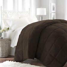 ienjoy Home Collection Down Alternative Premium Ultra Soft Plush Comforter - Queen Size, Chocolate