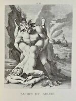 Carracci Erotik Bacchus Ariadne Penis Akt Vagina Mythology Antike Lithography