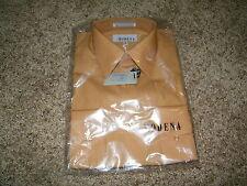Modena Men's Dress Shirt NWT Size 16 34/35 Brown Long Sleeve