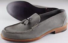 NWB 790$ ISAIA LOAFER shoes mocassino suede grey blake eu 43,5 us 10.5 uk 9.5