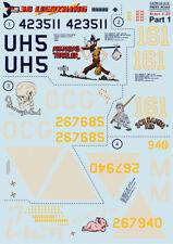 Print Scale DECALS 1/32 Lockheed p-38h/p-38j Rayo PARTE 1 #32012