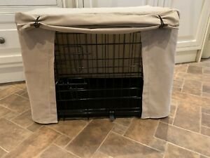 Dog crate cover light beige needlecord fabric NEW various sizes