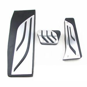Fuel Brake Foot Rest Pedals Plate AT For BMW 3-Series F30 Alumnium No Drill Set