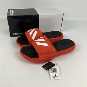 adidas Men's Alphabounce Basketball Slides Red size 7 New