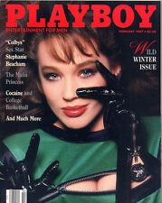 Playboy February 1987 USA Julie Peterson Stephanie Beacham