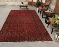 6x10 Vintage Oriental Hand Knotted Classic Traditional Geometric Wool Area Rug
