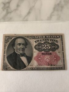 1874 25 Cents Twenty Five Cents Fractional Currency