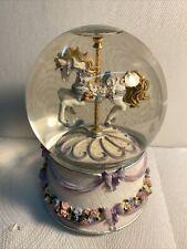 San Francisco Music Box Co. Horse Carousel Waltz Water Globe #00990 Mint