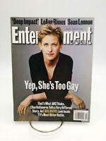 "Entertainment Weekly #431 Ellen DeGeneres ""Yep She's Gay Too"" Magazine May 1998"