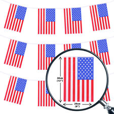 USA BUNTING 200FT COUNTRY NATIONAL FLAG PARTY DECORATION PVC ALL WEATHER