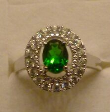 2.20 TCW STUNNING Natural RUSSIAN Chrome Diopside & ZIRCON RING  AWESOME SIZE 11