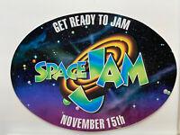 Space Jam Michael Jordan Looney Tunes Waner Bros. Large Promo Card Nov 1996 Rare