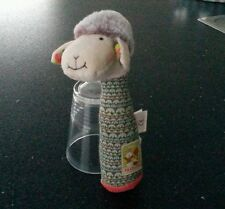 TBE - Doudou peluche pouet mouton les cousins du moulin roty 19 cm environ