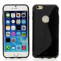 Apple iPhone 6 6S (4,7) Silikon Case Handytasche Schutz Ring Hülle Schwarz