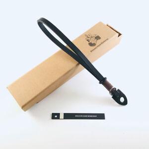 Bresson Genuine Leather Camera Wrist Strap Black for DSLR Leica Fujifilm Sony